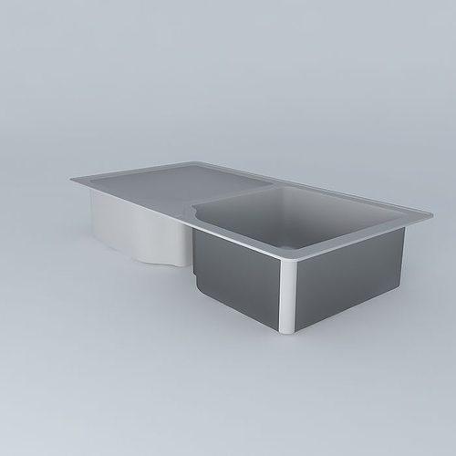 3d model water sink cgtrader for Sketchup bathroom sink