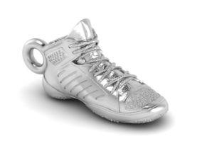 3D printable model Wrestling shoe pendant