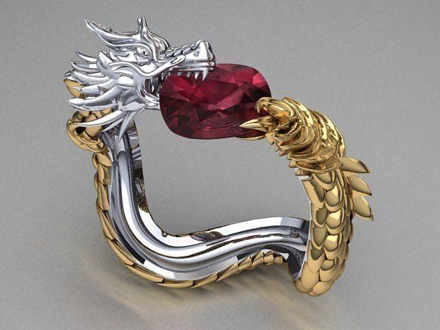 dragon bracelet 3d model stl 3dm 1