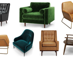 3D model Article Furniture Lounge Chairs Pack