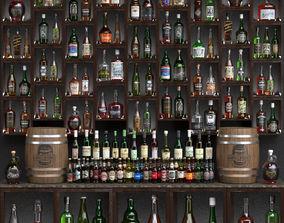 3D Bar with alcohol