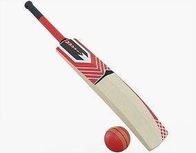 Cricket Bat and Ball 3D asset VR / AR ready