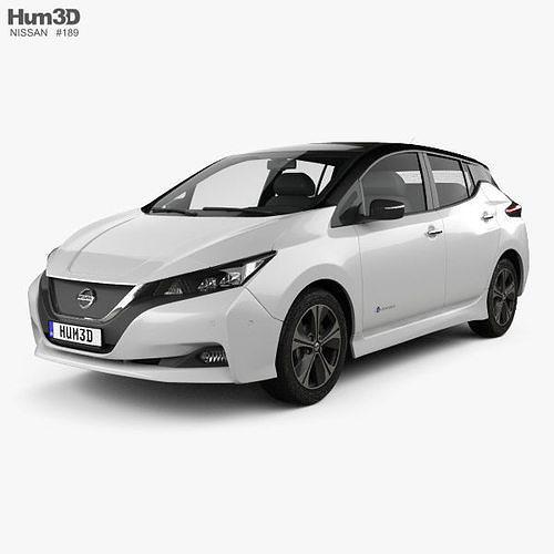 Nissan Leaf 2018 3d Model Cgtrader