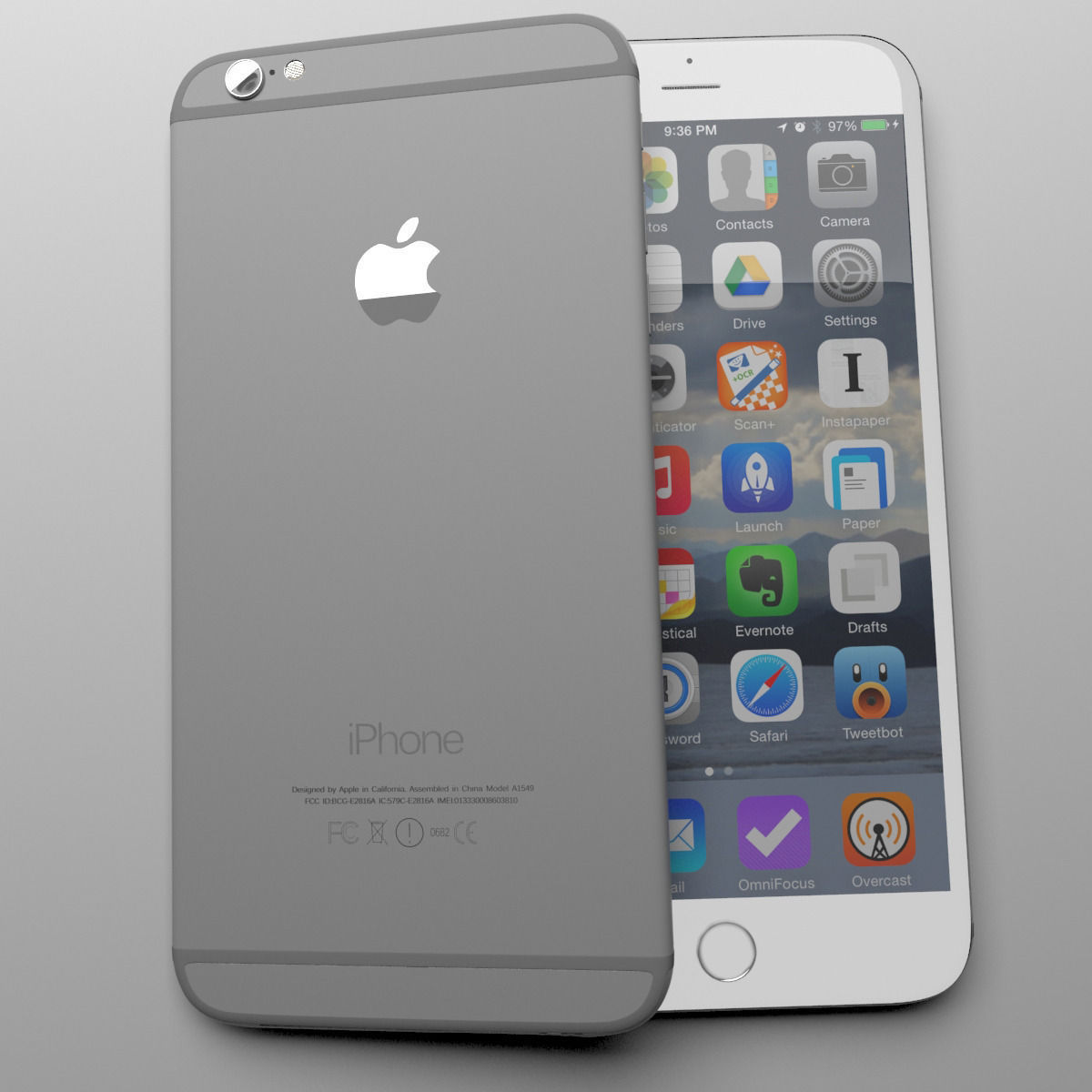 apple iphone 6 grey 3d model max cgtrader. Black Bedroom Furniture Sets. Home Design Ideas