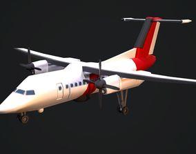 Dash 8 Aircraftc 3D asset