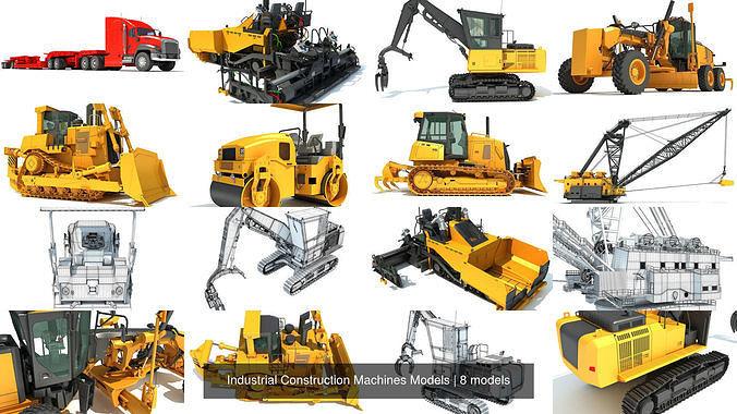 industrial construction machines models 3d model max obj mtl 3ds c4d lwo lw lws ma mb 1