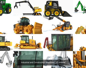 3D Industrial and Construction Machines