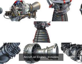 Aircraft Jet Engines 3D