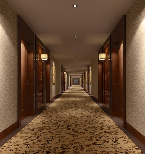 Hotel Corridor 3d Model Drum Cgtrader