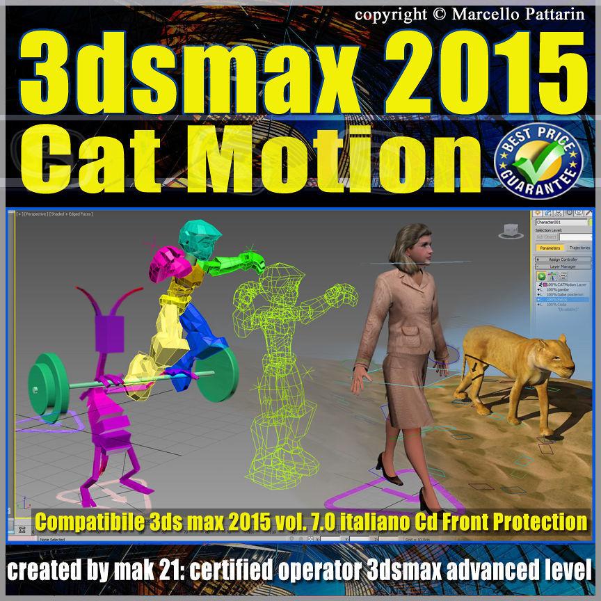 Video Corso 3ds max 2015 Cat Motion  volume 7 Italiano cd front