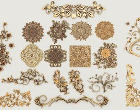 3D 2 sets of decorative ornaments