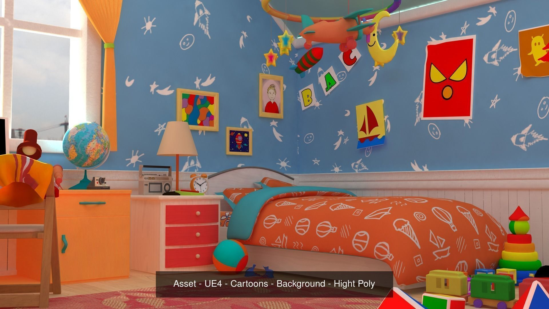 Asset - Cartoons - Background 04 - Hight Poly