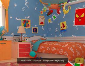 3D Asset - Cartoons - Background 04 - Hight Poly
