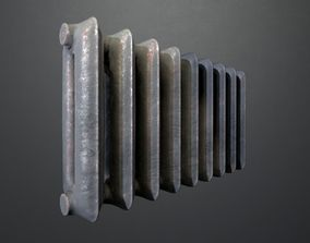 Old rusty radiator 3D asset