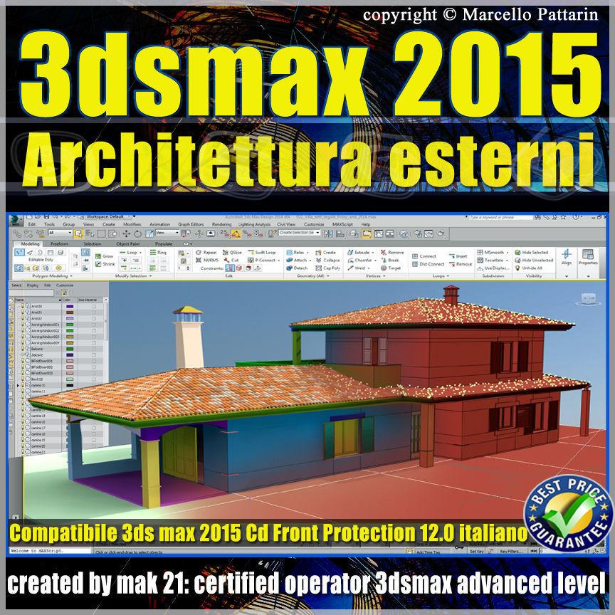 3ds max 2015 Architettura Esterni 12 Italiano cd front