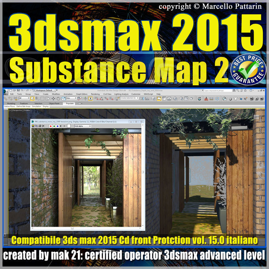 3ds max 2015 Substance Map volume 15 Italiano cd front