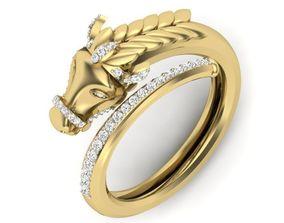3D printable model Diamond Gents Ring gold