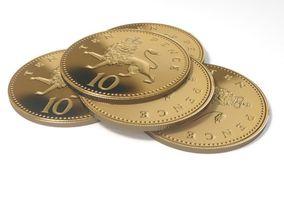 3D Ten pense British coin