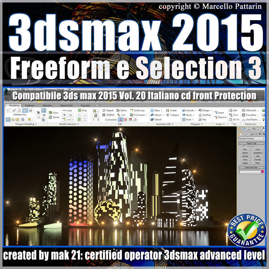 3ds max 2015 Freeform e Selection vol 20 cd front