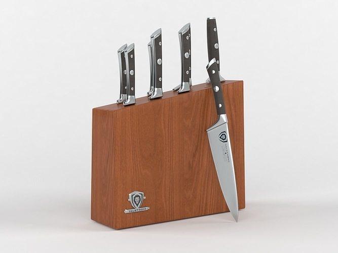 dalstrong knife set block 3d model max obj mtl fbx 1