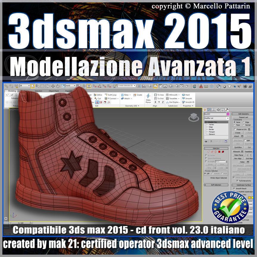 3ds max 2015 Modellazione Avanzata 1 v 23 Italiano cd front
