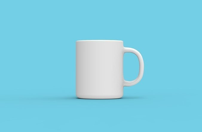 blank mug 3d model obj mtl 3ds c4d dxf stl 1