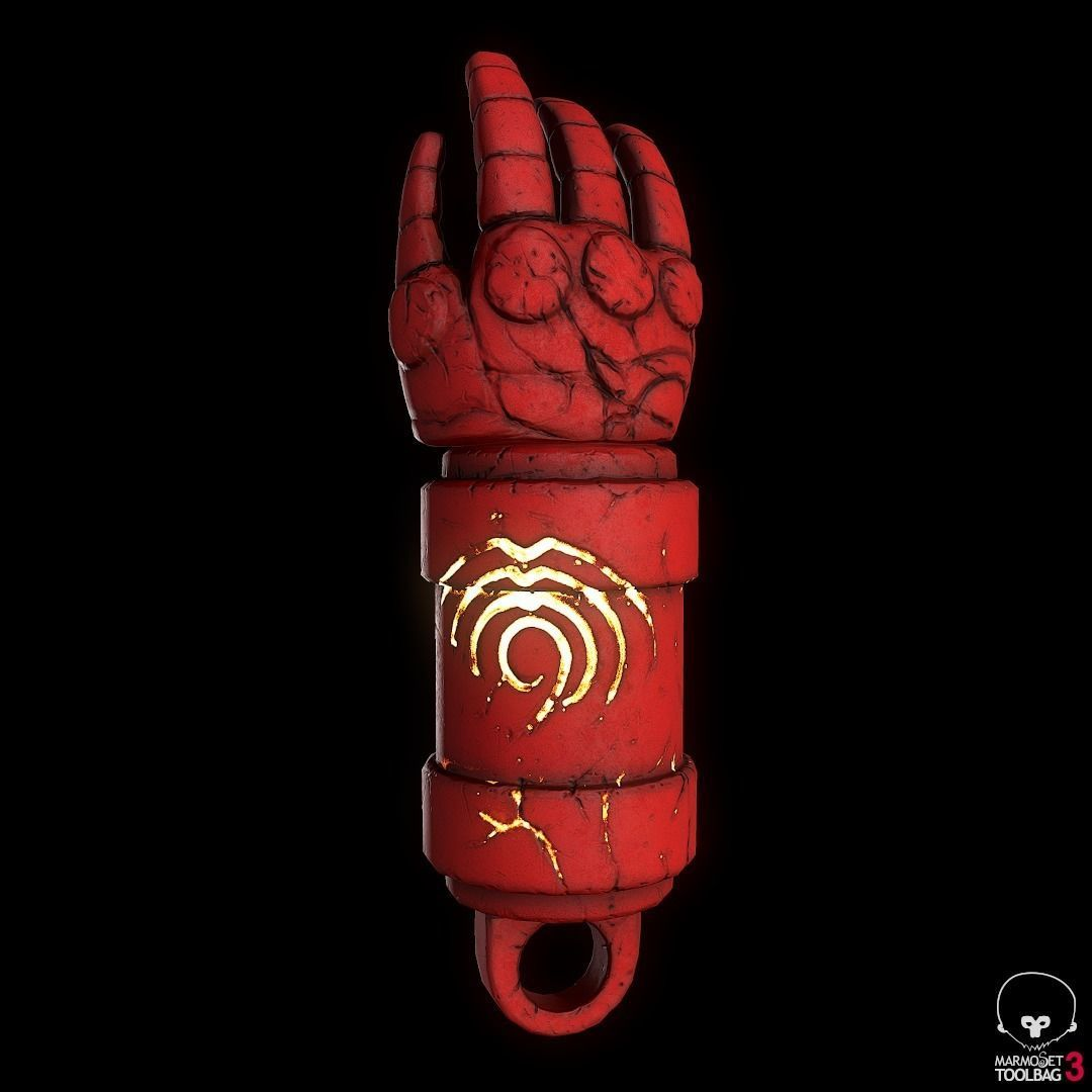 hellboys Right Hand Of Doom prop for keychain