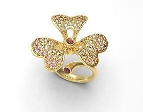 3D print model Clover Flower ring