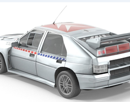 realtime citroen bx4 car 3d model