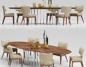 ALINE CHAIR and ARTHUR TABLE 3D