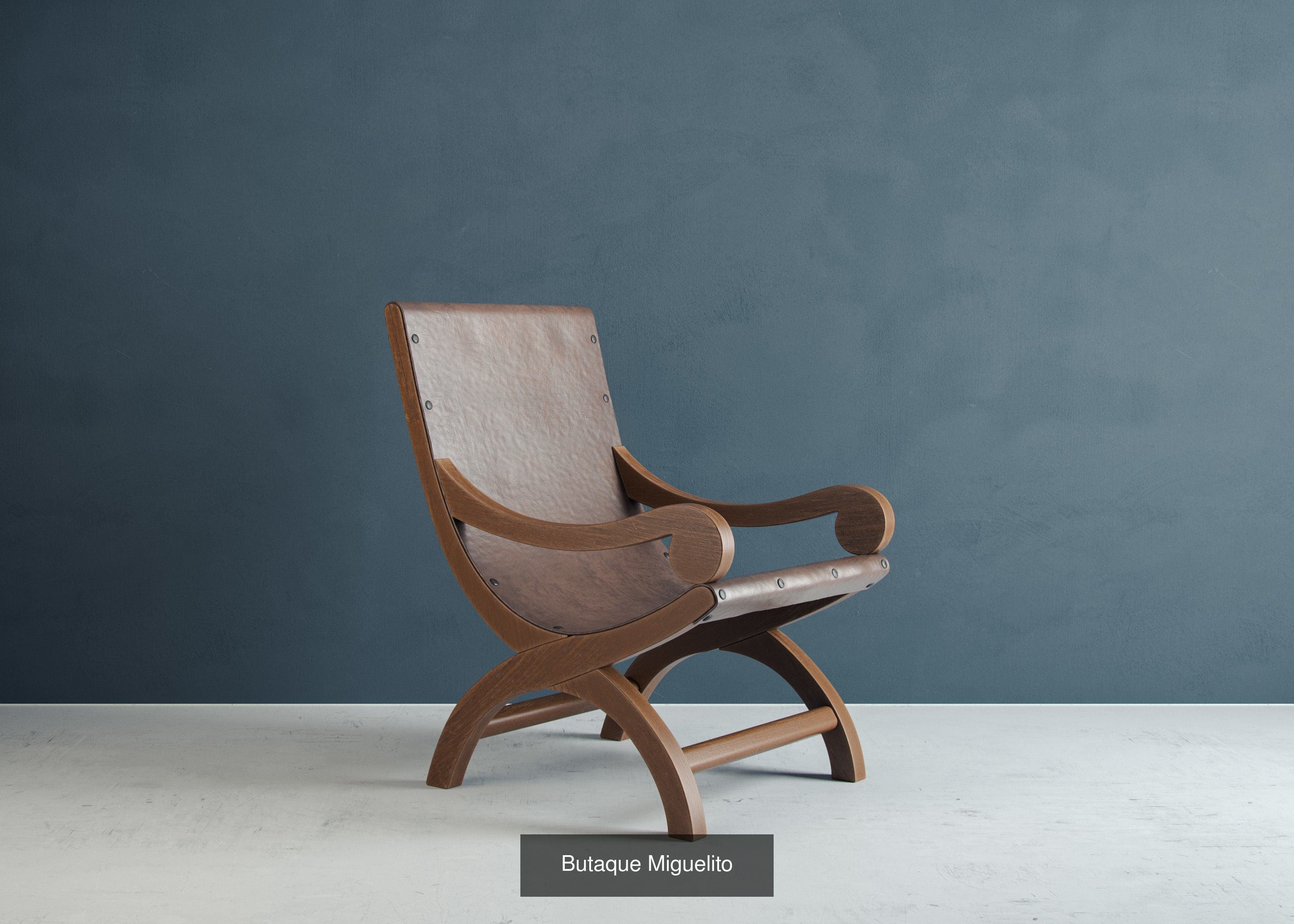 Mid century modern seating 3d model collection