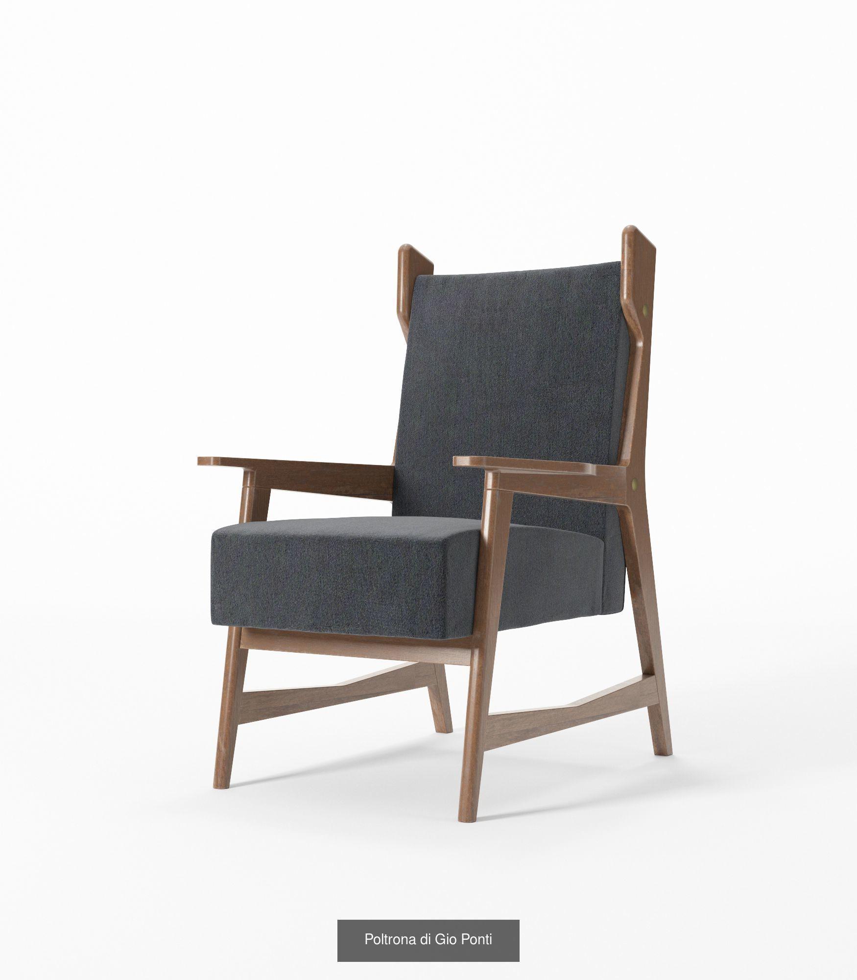 Mid century modern seating 3d model obj mtl 3ds fbx c4d dxf 8