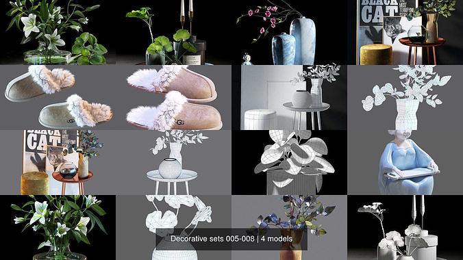 decorative sets 005-008 3d model max obj mtl fbx 1