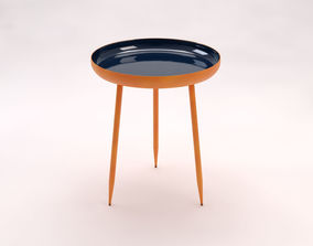 3D model SIDE TABLE---Plate and tripod