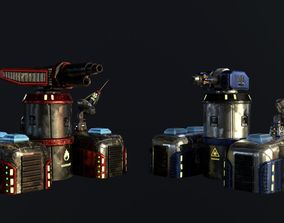 Sci-Fi Towers Pack 3D model