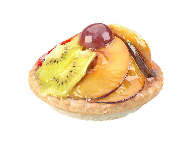 photorealistic mini fruit tart 3d scan 3d model obj mtl fbx c4d 1
