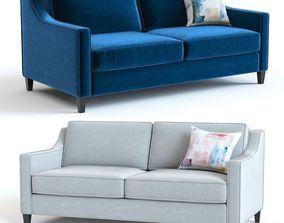 3D velvet West Elm Paidge Sofa