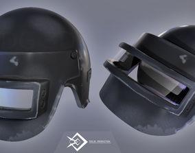3D model game helmet