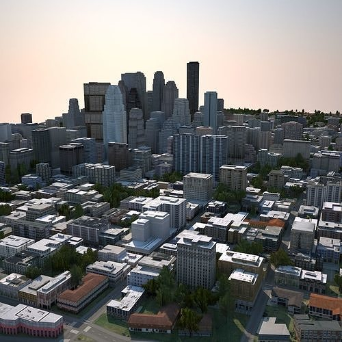 real time city 04 3d model max obj mtl fbx tga 1
