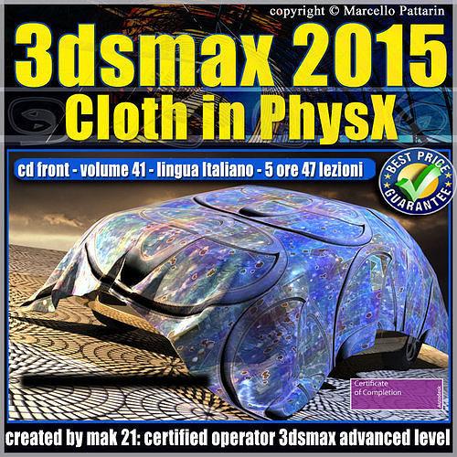 video corso 3ds max 2015 cloth phsyx vol 41 cd front 3d model max pdf 1