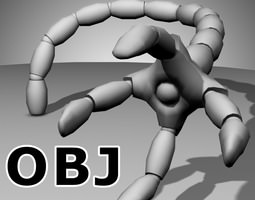 3D Robot Mechanic Arm OBJ - style two