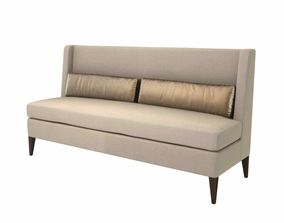 Sofa and chair company bespoke banquette 3d model
