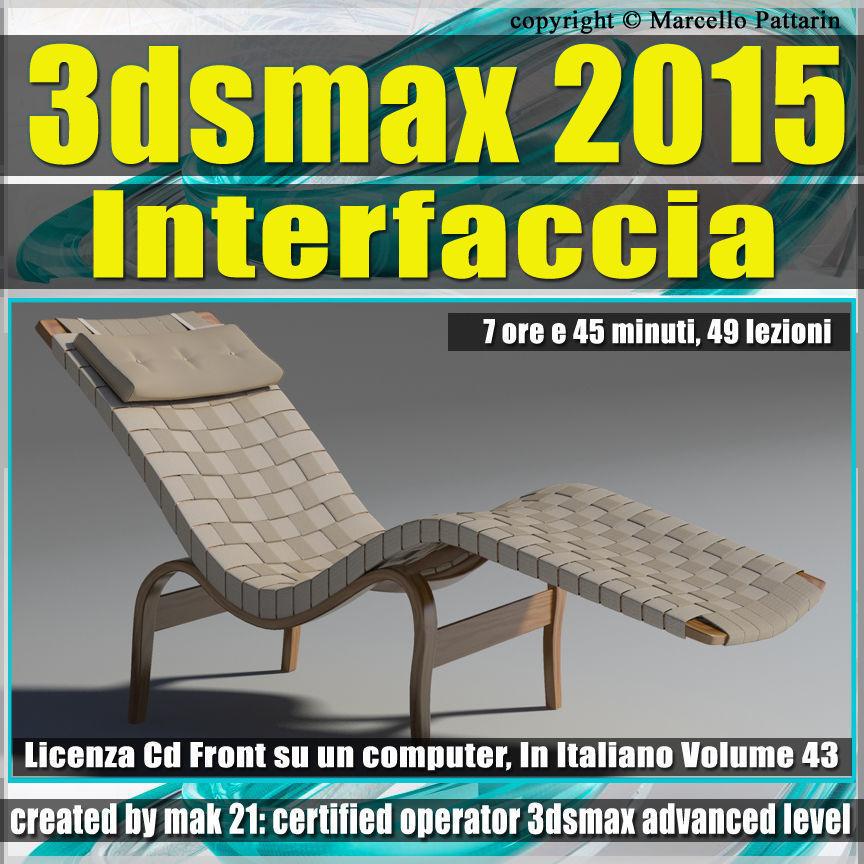 3ds max 2015 Interfaccia Vol 43 cd front