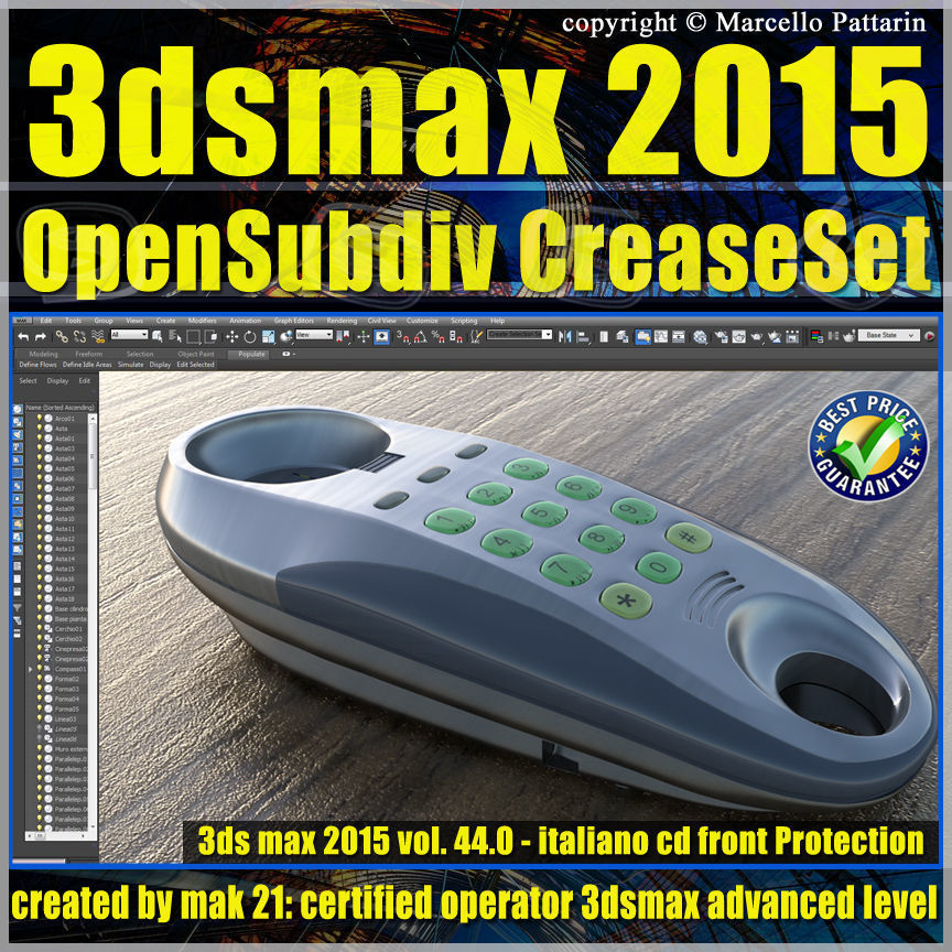 044 3ds max 2015 Modeling OpenSubdiv CreaseSet vol44 CD front