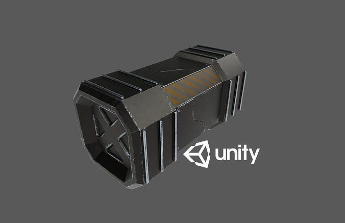 sci-fi crete 3d model low-poly max obj mtl 3ds fbx unitypackage prefab 1
