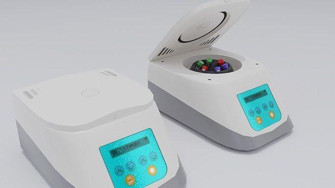 laboratory centrifuge 3d model obj mtl 3ds fbx stl blend 1