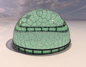 Voronoi building exterior structure and base 3D model