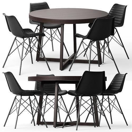 cult living dexter chair and zephyr table 3d model max obj mtl fbx 1