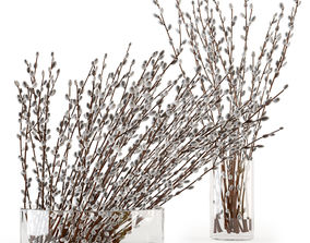 Branches in a vase 006 3D
