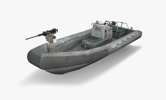 rigid hulled inflatable boat 3d model max obj mtl 3ds fbx ma mb dae 1